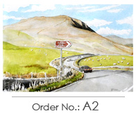unique Postcard watercolours print Peak District and Sheffield for sale to buy
