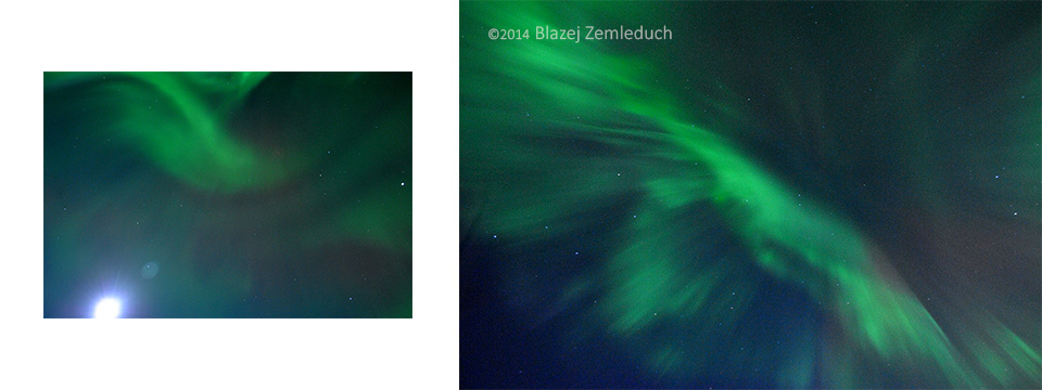northern lights - aurora borealis in Iceland, Zemleduch - photography